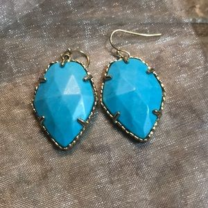 EUC Kendra Scott turquoise and gold Corley